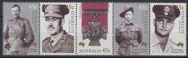 Centenary of Victoria Cross set stripe of 5, 100 éves az ausztrál Vicoria Kereszt sor ötöscsíkban