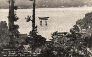 Itsukushima, scenery of island and seashore, Torii