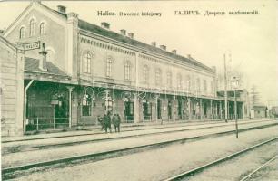 Halych, Halicz; Dworzec kolejowy / railway Station