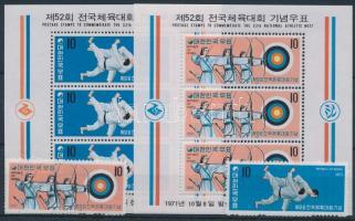 1971 Nemzeti sportjátékok sor Mi 810-811 + blokksor 345-346