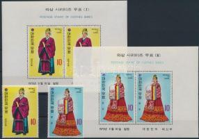 Courtyard clothing from Yi Dynasty (4) set + block, Udvari öltözet Yi- dinasztia korából (4.) sor + blokksor