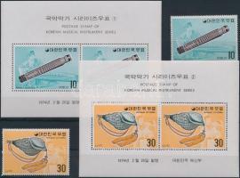 Korean musical instruments (1) set + block set, Koreai hangszerek (1.) sor + blokksor