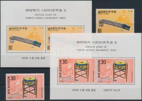 Koreai hangszerek (3.) sor + blokksor, Korean musical instruments (3) set + block set