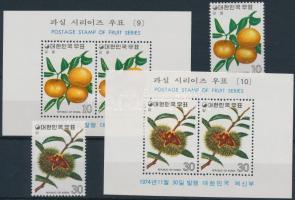 1974 Gyümölcsök (5.) sor Mi 951-952 + blokksor 398-399