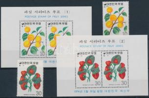 1974 Gyümölcsök (1.) sor Mi 913-914 + blokksor 376-377