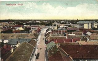 Érsekújvár, Nové Zámky; Látkép a Singer-féle szecessziós palotával / view