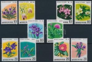 1975 Virág motívum (I-V.) 5 klf sor