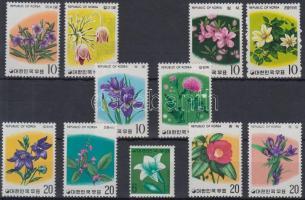 Flowers 11 stamps with sets, Virág motívum 11 klf bélyeg, közte sorok