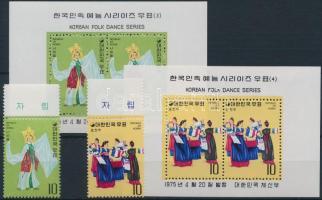 Korean folk dance (II) margin set + block set, Koreai néptánc (II.) ívszéli sor + blokksor