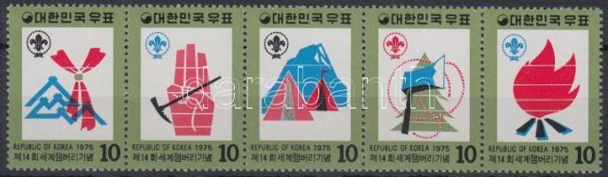 World Scout Jamboree set in stripe of 5, Cserkész Világtalálkozó sor ötöscsíkban