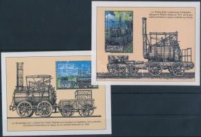 Mozdonyok 2 klf blokk, Locomotives 2 diff blocks