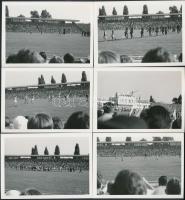 1974 Üllői úti Fradi Pálya avató, Ferencváros-Vasas meccs, 10db fotó, 8x10cm