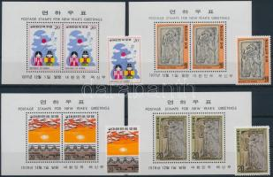 Chinese New Year 1977-1978 2 diff stamps + 2 diff block set, Kínai Újév - motívum 1977-1978 2 klf bélyeg sor + 2 klf blokksor