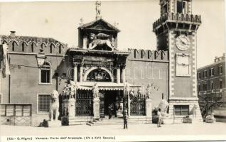 Venice, Venezia; Porta dell'Arsenale (XV e XVII Secolo) / entrance of the Arsenal from the 15th and 17th Century