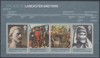 2008 Brit monarchia (I.) Lancaster és York ház blokk Mi 43