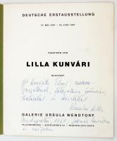 1968 Kunvári Lilla plasztikái. Német nyelvű katalógus. 14 p. Kiadói kartonkötésben. A művész dedikációjával!