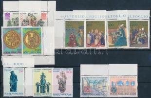 1986-1987 5 sets + block, 1986-1987 5 klf sor, 2 bélyeg kivételével ívszéli/sarki + blokk