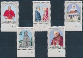 1989 II. János Pál pápa látogatása ívszéli sor Mi 687-691