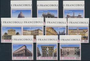 Architecture margin set + stamp-booklet, Építészet ívszéli sor + bélyegfüzet