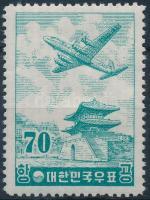 Plane closing stamp, Repülő sor záróértéke