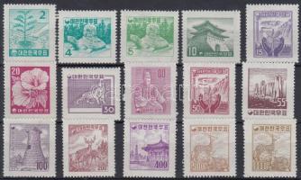 1957/1959 Nemzeti szimbólumok sor Mi 263-277