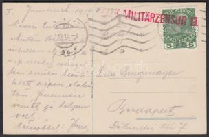 Censured postcard, Cenzúrás képeslap