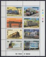 1992 Vonatok a világ minden tájáról kisív Mi 2369-2376