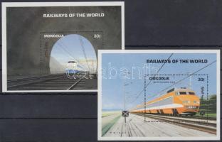 1992 A világ vasútja blokksor Mi 185-186