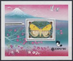 1991 Nemzetközi kertépítészeti kiállítás, Osaka: Lepkék és virágok blokk 165