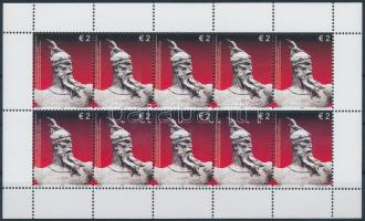Skanderbeg's 540th death anniversary mini sheet set, Szkander bég halálának 540. évfordulója kisív sor