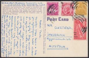 ~1955 Postcard to Austria, ~1955 Képeslap Ausztriába