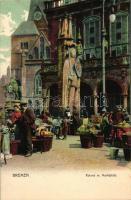 Bremen, Roland m. Marktplatz / statue, market