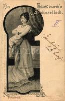 'Ein Blick durch's Schlüsselloch' Künstlerpostkarte 2. J. Goldiner; erotic postcard, Erotikus képeslap, Künstlerpostkarte 2. J. Goldiner