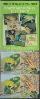 Frogs self-adhesive stamp-booklet, Békák öntapadós bélyegfüzet