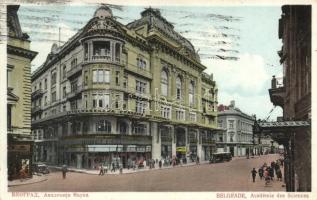 Belgrade, Academie des Sciences / Academy of Science, shops, automobiles
