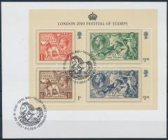 Stamp Exhibition block on cardboard with first day cancellation, Bélyegkiállítás blokk kartonlapon első napi bélyegzéssel