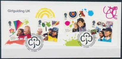 2010 Cserkész blokk Mi 54 kartonlapon első napi bélyegzéssel