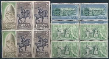 1962 El Cid sor 4-es tömbökben Mi 1593-1596