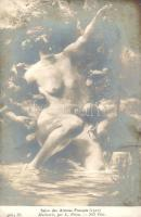 Multinerie / Erotic nude art postcard s: L. Priou, Erotikus meztelen művészeti képeslap,  s: L. Priou