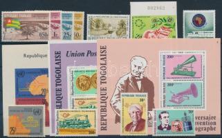 Togo 1963-1978 11 stamps with sets + 3 block, Togo 1963-1978 11 klf bélyeg, közte sorok + 3 blokk