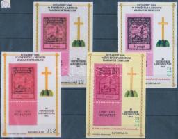 2000/73+76 REGNUM MARIANUM emlékív 4 db próbanyomat azonos sorszámmal