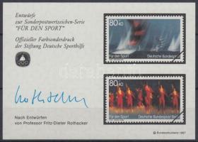 1987 Sporthilfe emlékív