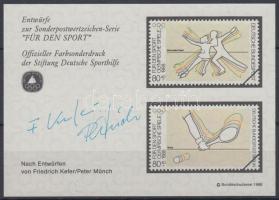 1988 Sporthilfe emlékív