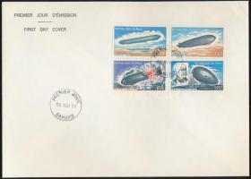 1977 Zeppelin sor Mi 586-589 FDC-n
