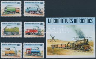 Old trains set + block, Öreg vonatok sor + blokk