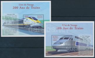 Historic locomotives mini sheet set + blockset, Történelmi mozdonyok kisívsor + blokksor