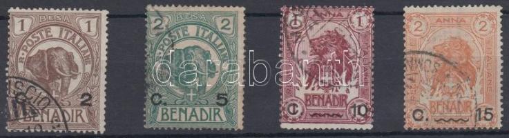 1906 Forgalmi sor 4 értéke Mi 10-13