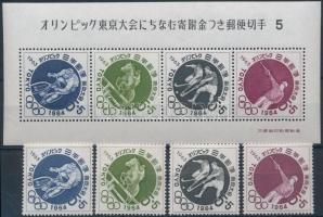 1963/1964 Summer Olympics, Tokyo set + block, 1963/1964 Nyári Olimpia, Tokió sor + blokk