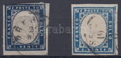 Szardínia 1855 Forgalmi Mi 12 a+b
