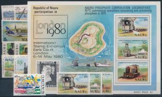 1975-1999 11 klf bélyeg, közte sorok + blokk